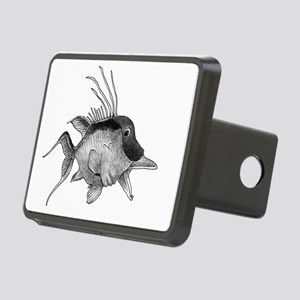 Black and White Hogfish Rectangular Hitch Cover