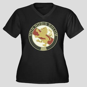 1stMC Women's Plus Size Dark V-Neck T-Shirt