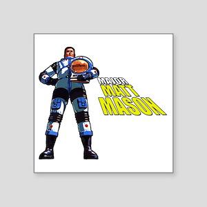 "Major Matt Mason Square Sticker 3"" x 3"""