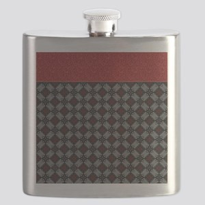Red and Gray Diamonds Flask