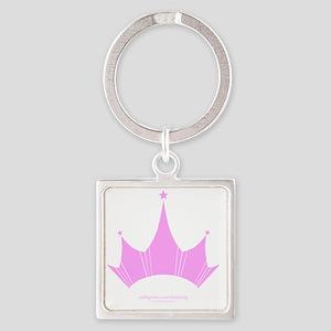 bini2ng crown Square Keychain