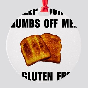 Crumbs Off Me Gluten Free Round Ornament