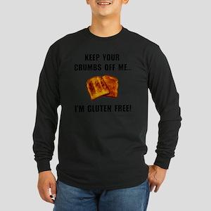 Crumbs Off Me Gluten Free Long Sleeve Dark T-Shirt