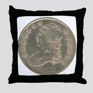 Bust Half Dollar Throw Pillow