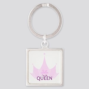 Queen (not Princess) Square Keychain