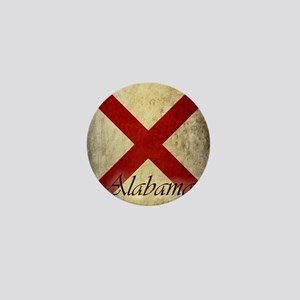 Grunge Alabama Flag Mini Button