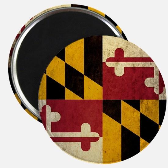 Grunge Maryland Magnet