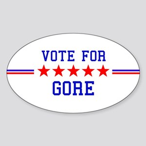 Vote for Gore Oval Sticker