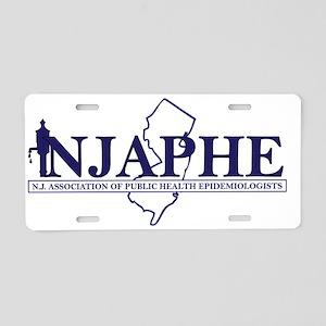 NJAPHE logo_blue Aluminum License Plate