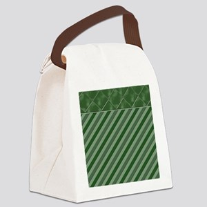 Green stripes Canvas Lunch Bag