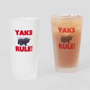 Yaks Rule! Drinking Glass