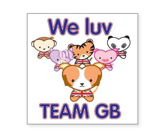 We luv team gb square sticker 3