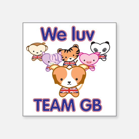 We luv team gb square sticker 3