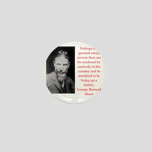 george bernard shaw quote Mini Button