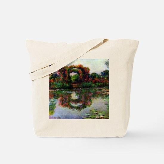 Claude Monet Rose Elbows Tote Bag