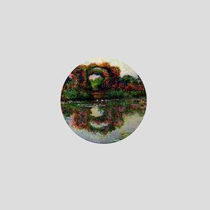 Claude Monet Rose Elbows Mini Button