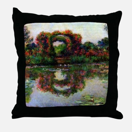 Claude Monet Rose Elbows Throw Pillow