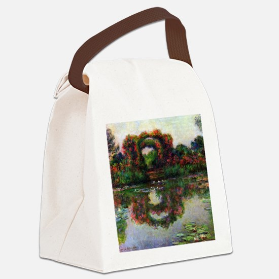 Claude Monet Rose Elbows Canvas Lunch Bag
