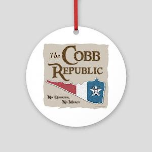 The Cobb Republic Round Ornament