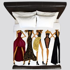 Group Divas King Duvet