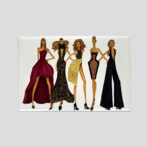 Group Divas Rectangle Magnet