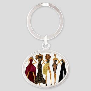 Group Divas Oval Keychain