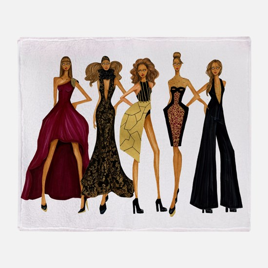 Group Divas Throw Blanket