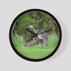 Turkey and Rabbit Wall Clock