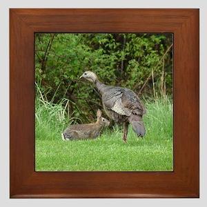 Turkey and Rabbit Framed Tile