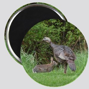 Turkey and Rabbit Magnet
