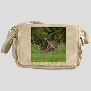 Turkey and Rabbit Messenger Bag