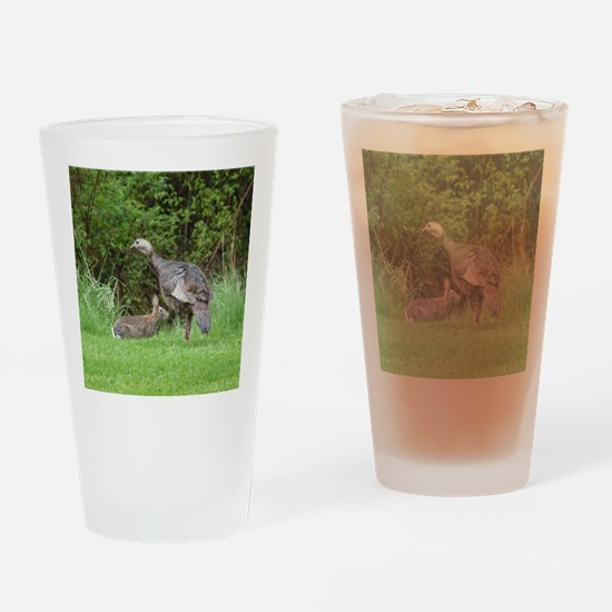 Turkey and Rabbit Drinking Glass