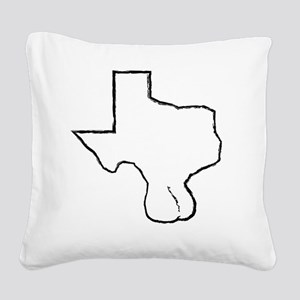 Texas Balls Square Canvas Pillow