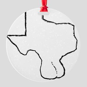 Texas Balls Round Ornament