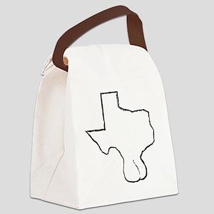 Texas Balls Canvas Lunch Bag