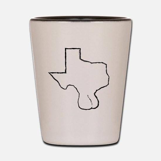 Texas Balls Shot Glass