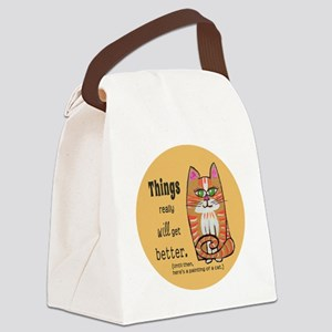 Heres A Cat Canvas Lunch Bag