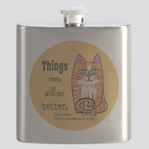 Heres A Cat Flask