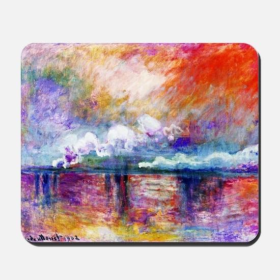 Claude Monet Charing Cross Bridge Mousepad