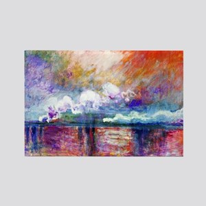Claude Monet Charing Cross Bridge Rectangle Magnet