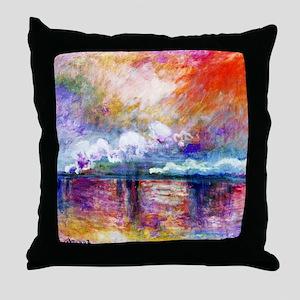Claude Monet Charing Cross Bridge Throw Pillow