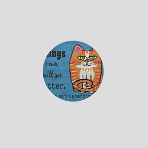 Heres A Cat Mini Button