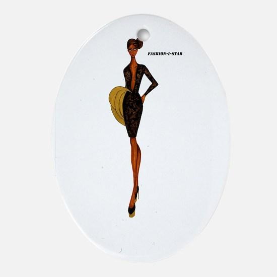 Fashion-i- Star Oval Ornament