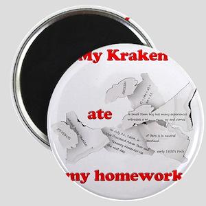 My Kraken ate my homework Magnet