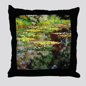 Claude Monet Sea Rose Pond Throw Pillow