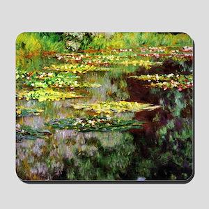 Claude Monet Sea Rose Pond Mousepad