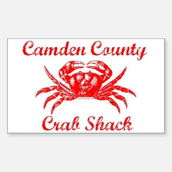 Camden Co. Crab Shack Rectangle Decal