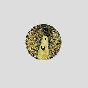 Gustav Klimt Garden Paths With Chicken Mini Button