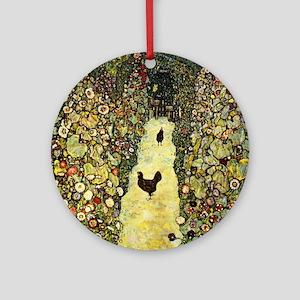 Gustav Klimt Garden Paths With Chic Round Ornament