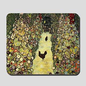 Gustav Klimt Garden Paths With Chickens Mousepad